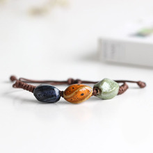 Traditional Boondoggle Hand Woven Ceramic Bracelets Beads Simple Folk Style Women's Jewelry Wholesale Free Shipping 00912
