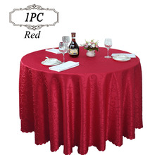 2017 Promotion 100% Polyester Modern Jacquard Tablecloth Machine Washable Wedding Table Linen for Banquet Party Event Decoration(China)