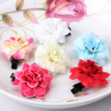 New Bohemia Style Peony Flowers Hair Clips Brooch Hairpins For Women Hair Accessories Beach 6 Colors Floral Barrettes