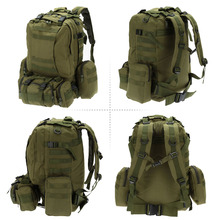 Lixada 50L Outdoor Military Backpack Molle Tactical Bag Rucksack Climbing Cycling Bag Hiking Camping Waterproof Bag Camouflage