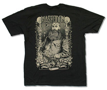 "MASTODON ""BEARD"" BLACK SLIM FIT T-SHIRT NEW OFFICIAL ADULT METAL MUSIC BAND t shirt manufacturers"