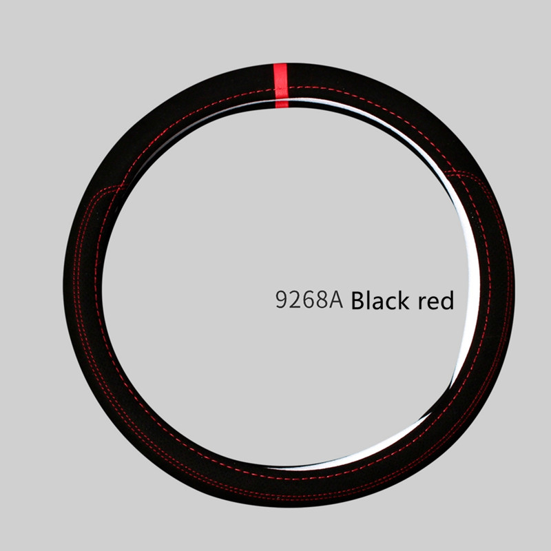 Car accessories Leather Car steering wheel cover All year can use sport Car styling Auto steering wheel Diameter  (3)