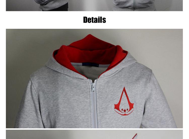 Fashion Men Assassins Creed Hooded Sweatshirt Hombre Autumn Winter Solid Hoodie Sweatshirts Men Cosplay Chadal Cool Clothing 3XL 7