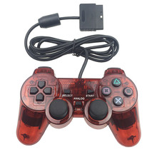 Wired Gamepad for PS2 Controller Wired PS2 Gamepad Transparent Joystick PS2 Controle for PlayStation2 Replacement Joystick(China)