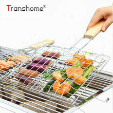 Stainless Steel Hamburger Barbecue Wire Meshes BBQ Net Meat Fishes BBQ Grills Outdoor Barbecue Grill Tools Kitchen Accessories(China)