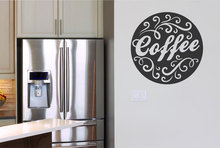 Coffee Brand Pattern Wall Decal Lace Vinyl Stickers Home Decor Coffee Cafe Shop Lettering Wall Sticker Modern Design Art SYY644(China)