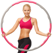 JAYSON Brand Detachable Fitness Foam Hula Hoop Weight Loss Sports Slimming Waist Adult Women Health Lose Wrap Abdominal Massage(China)