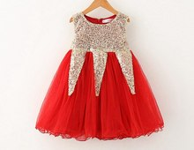 Hug me Christmas Baby Girls Lace Tutu Dresses Childrens Prubcess Sequins Dresses 2016 Winter Summer Party Dress(China)