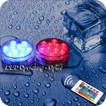 Mini UFO Underwater led aquarium light Submersible, RGB Remote Control+Waterproof led light for aquarium tank,can decorate house(China)