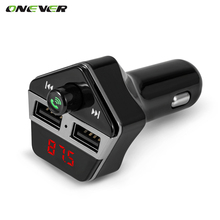 Onever Wireless Bluetooth Car Kit FM Transmitter Dual USB Port Charger MP3 Player Hands-free Modulator DC 12-24V