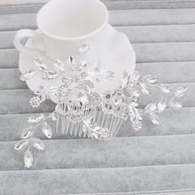 Exquisite Art Deco Vinatge Silver Clear Crystal Rhinestones Flower Wedding Hair Comb Bridal Headpiece Hair accessories