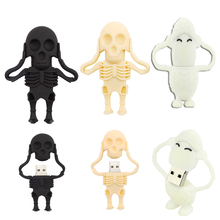 pen drive Skeleton Halloween USB Flash Drive Memory Stick/thumb 4gb 8g 16g 32g 64gb popular Pendrive U Disk external storage