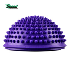 Hot Yoga Half Ball Fitness Equipment Kids Elder Durian Massage Mat Ball Exercise Balance Ball Point Gym Yoga Pilates Ball(China)