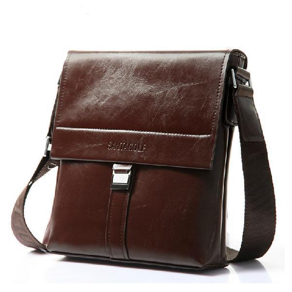 Vintage Real Cowhide Men Bags Fashion Soft Leather Shoulder Cross-body Bags Business Briefcase Excellent Men Messenger Bags<br><br>Aliexpress