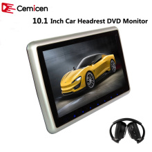 Cemicen 10.1 Inch Car Headrest Monitor DVD Player Support HD 1080P Video USB/SD Input Built-in IR/FM Transmitter Speaker(China)
