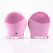 100 Set Waterproof Sonic Massage Portable Ultrasonic Facial Cleaner Electric Face Cleansing Brush Skin Care Spa Beauty Device(China)
