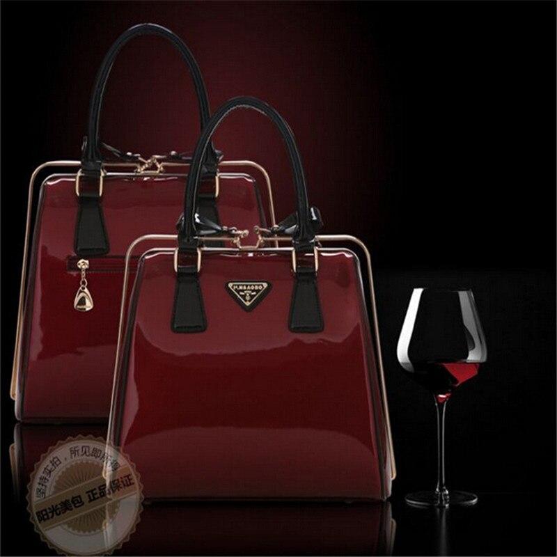 High quality new hot Patent Leather bag handbag women fashion bag 2017 famous designer tote bag women free shipping<br>