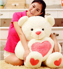 1Pcs 80cm Super Lovely Teddy Bear With Heart Stuffed Soft Plush Toys Children's Toys Gifts for Girls