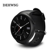 DEHWSG GPS Smart watch Android 5.1 mtk6580 1GB RAM 16GB ROM support Google play 3G WiFi Heart rate For Android Samsung phone
