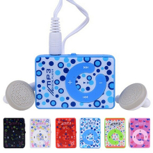 3.5mm USB 2.0 Mini Clip C Shape MP3 Music Media Player with Earphone Cable