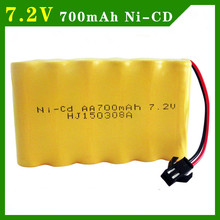 7.2v battery 700mah ni-cd 7.2v aa battery nicd batteries pack ni cd rechargeable for RC boat model car electric toys tank(China)