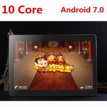 DHL free shipping 10 inch Tablet PC Deca Core 4GB RAM 128GB ROM Dual SIM Cards Android 7.0 GPS Tablet PC 10 10.1 +Gifts(China)