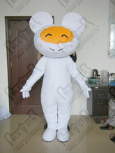 cute white bunny mascot costume EVA head quality rabbit mascot costumes fancy animal party costumes