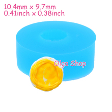 GYL352 10.4mm Egg Tart Cabochon Silicone Mold - DIY Biscuit Baking Tool, Candle, Cookie, Resin, Food Grade, Dollhouse, Wax Mold(China)