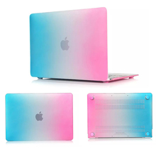 Luxury Matte Rainbow Hard Plastic Protector Case For Apple MacBook Air 11 12 13 15 inch Pro Retina Silm PC Cover skin women