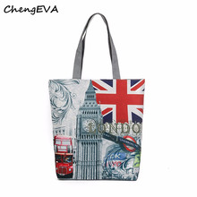 Casual Hot Sale Attractive Elegant London Big Ben Canvas Tote Casual Beach Bags Women Shopping Bag Handbags Free Shipping Dec 27