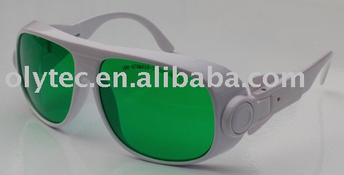 anti-laser safety glasses 190-470nm &amp; 610-760nm  ,OLY-LSG-13,  CE O.D 4+ high V.L.T%<br>