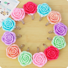 2Pcs/Pack Creative Home Rose Flower Sticky Hook After Door Wall Clothes Hat Hanger hooks