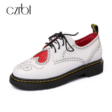 CZRBT Spring Autumn Platform Bohemian Lovely Loafers Women Brand Flat Shoes Elegant Casual Canvas Leather Shoes Muffin Bottom