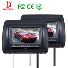 3 Colors Optional 7 Inch Car DVD Player Headrest Monitor With LCD Screen 2 Speakers Support USB SD Games Remote Control