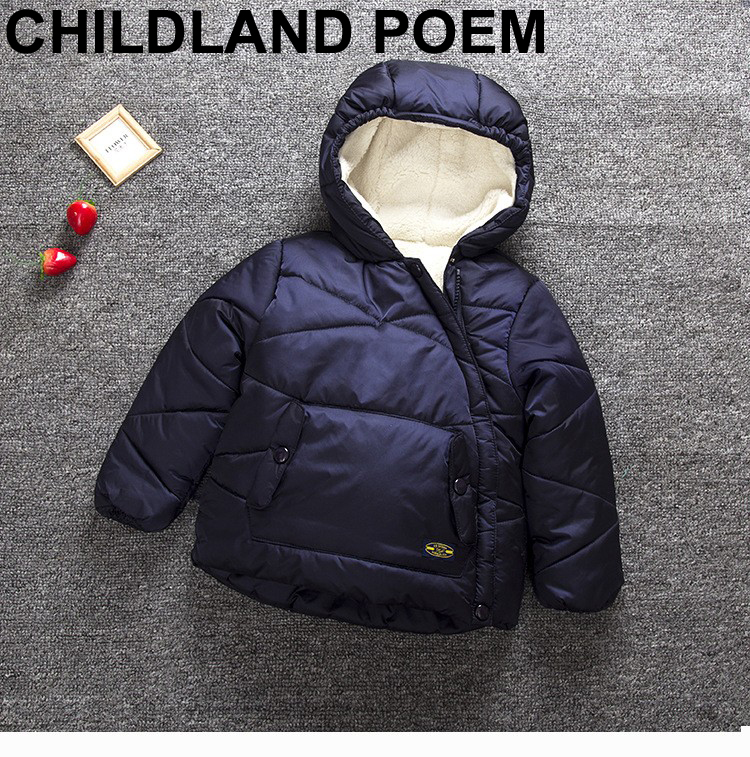 2017 Children Parka Down Cold Winter Boys Solid Coats Cotton Filling Thick Warm Hooded Kids Winter Jacket For Girls OuterwearОдежда и ак�е��уары<br><br><br>Aliexpress