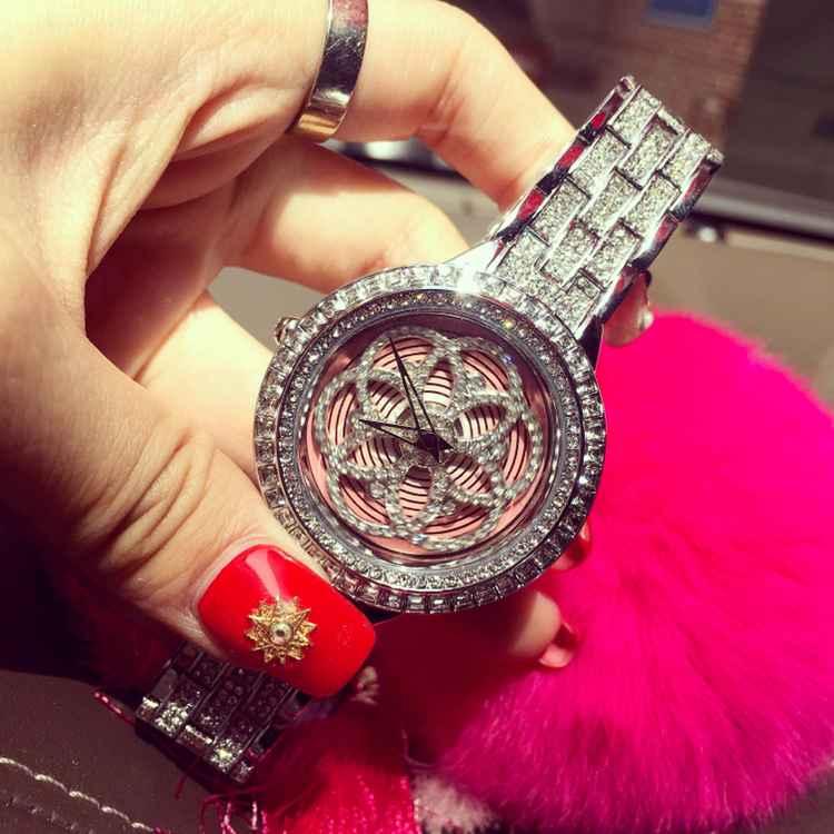 Luxury Brand Rhinostone Stainless Steel Quartz Watch Women Ladies Fashion Crystal Dress Wristwatch Female Watch Relogio Feminino<br><br>Aliexpress