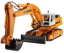 RC Excavator 11CH Electric Rc Remote Control Construction Tractor with Light wireless Remote Control Digger(China)