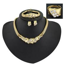 Statement Necklace Jewelry Sets  Fashion Big Women Wedding Pendant Earring Gorgeous Vintage African Costume jewellery Set