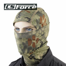 CS Force Breathable Rattlesnake Camo Mask Paintball Full Face Mask Outdoor Sports Motorcycle Cycling Hunting CS Balaclava Mask