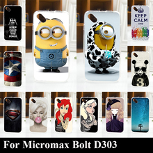 For Micromax Bolt D303 tpu Soft Plastic Mobile Phone Cover Case DIY Color Paitn Cellphone Bag Shell Free Shipping