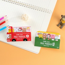 Creative Cute Cartoon Girls Memo Pad Happy Bus Convenience Sticker Category Index Post it Kawaii Stickers