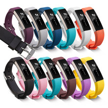 High Quality Various Colors Soft Silicone Fitbit Alta Band Wristband Strap Bracelet Watch Replacement Accessories(China)