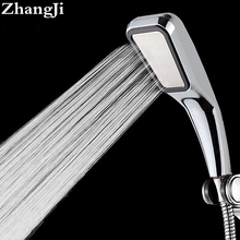 Quality Bathroom Rainfall 300 Hole Shower Head Water Saving Flow With Chrome ABS Rain Shower Head High Pressure Boost ZJ001(China)