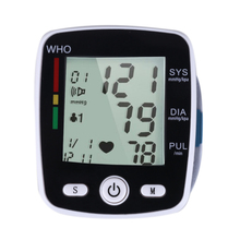 Portable Wrist Digital Blood Pressure Household Health Care USB Rechargeable Upper Arm Wrist LCD Pulse Monitor Blood Pressure(China)