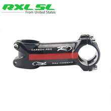Carbon Bicycle Stem 31.8mm Road/MTB Bikes Stems RXL SL Mountain Bicycle Stem 3K Gloss 60/70/80/90/100/110mm Blakc with Red