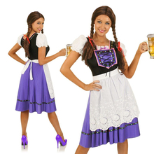 MOONIGHT New Fashion High Quality Sexy Adult Halloween Oktoberfest German  Dutch Beer Girl Maiden Bind Costume Wench Fancy Dress