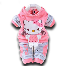 Official Store 2PCS Newborn Hello Kitty Baby Boy and Girl Clothes Hoodies + Pants Baby Clothing Set for Newborns Infantil Menina