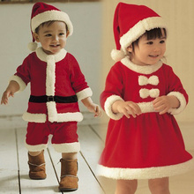 Baby clothes autumn and winter Christmas clothing baby boys and girls Christmas performance dress Siamese hat suit