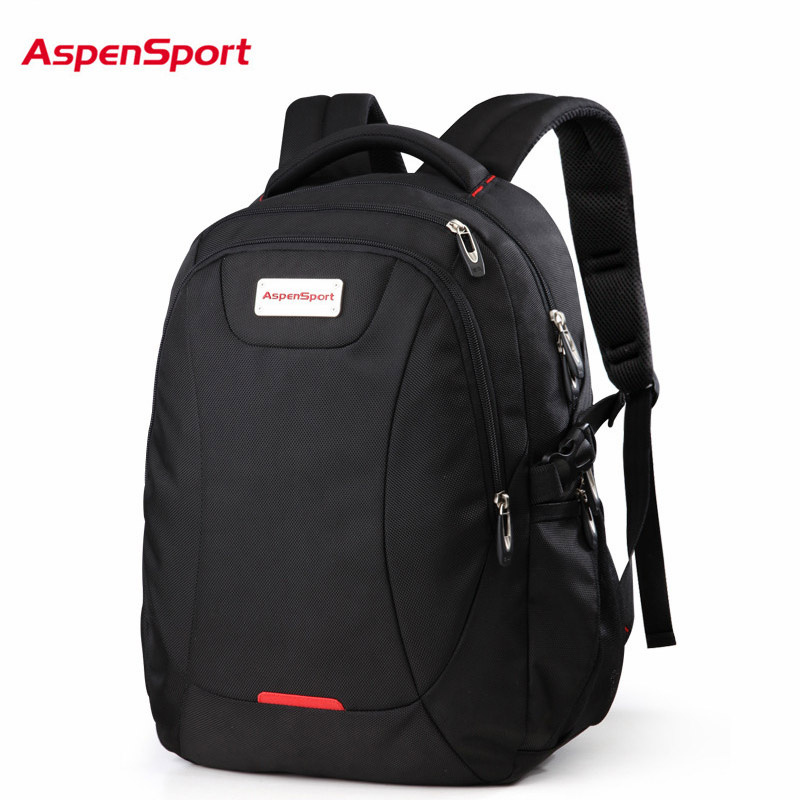 AspenSport Top Brand Waterproof Fashion Backpack Unisex Mens School bag for Laptop Women Notebook Bag Schoolbag 15.6 to17 Inch <br>