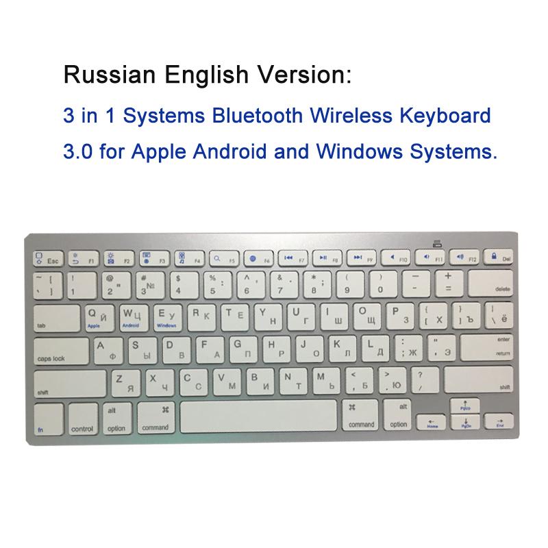 5 Russian Keyboard Bluetooth Wireless Keyboard
